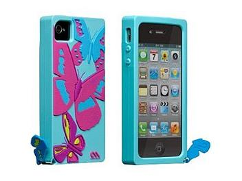 Case Mate CM019535 Butterflies Silicone Skin Case for iPhone 4/4S