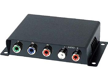 Globalmediapro SHE YE01A Component Video and Stereo Audio CAT5 Extender (Transmitter and Receiver)