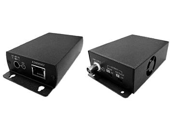 Globalmediapro SHE IP02P Active IP Coaxial Extender (Transmitter and Receiver)