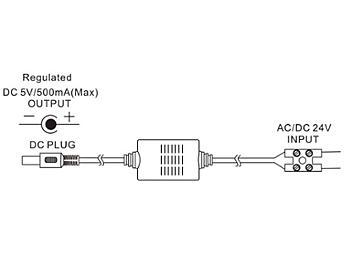 Globalmediapro P-125 AC/DC 12-24V to DC 5V Power Converter (pack 100 pcs)
