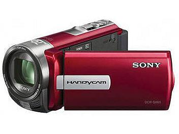 Sony DCR-SX65E Flash Memory Camcorder PAL - Red