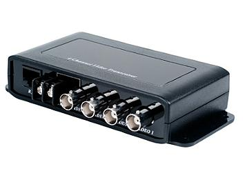 Globalmediapro SHE TTP414VD 4-Channel 4 x BNC Female to 1 RJ-45 Female with Data Video Transceiver