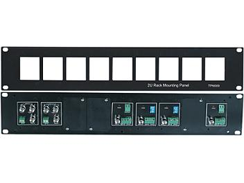Globalmediapro SHE TPN009 19-inch 2U Rack Mounting Panel for TTA111VR, CD102