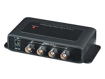 Globalmediapro SHE CD104 1x4 Video Distributor / Amplifier