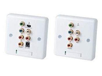 Globalmediapro SHE YW02HA Wall Plate Active Component Video and Stereo Audio CAT5 Extender (Transmitter and Receiver)