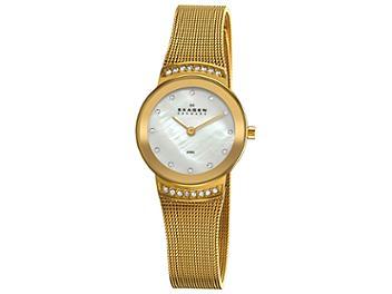 Skagen 812SGG Gold Mesh Watch