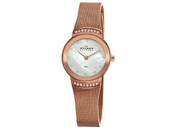 Skagen 812SRR Steel Rose Gold Mesh Watch
