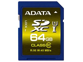 A-DATA 64GB Premier Pro UHS-I U1 Class-10 SDXC Card (pack 2 pcs)