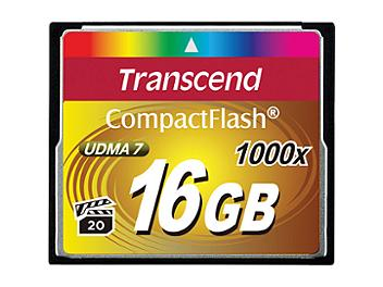 Transcend 16GB 1000x CompactFlash Memory Card (pack 2 pcs)