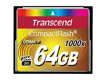 Transcend 64GB 1000x CompactFlash Memory Card (pack 2 pcs)