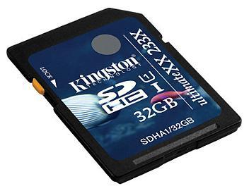 Kingston 32GB UltimateXX UHS-I SDHC Memory Card (SDHA1/32GB) - pack 5 pcs
