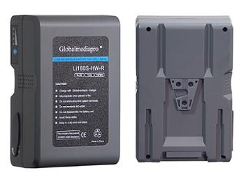 Globalmediapro Li160S-HW-R V-Mount Li-ion Battery 158Wh for Red Camera