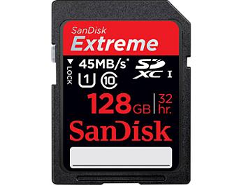 Sandisk 128GB Extreme Class-10 SDXC Memory Card 45MB/s (pack 2 pcs)