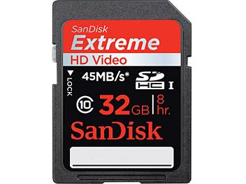 Sandisk 32GB Extreme Class-10 SDHC Memory Card UHS-1