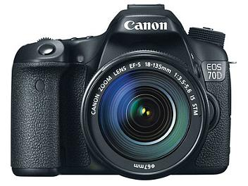 Canon EOS-70D Digital SLR Camera Kit with Canon EF-S 18-135mm Lens