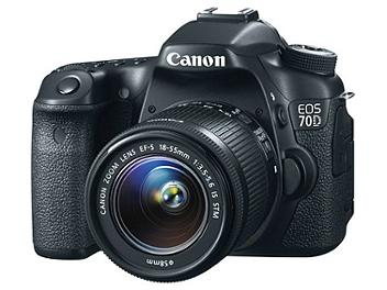 Canon EOS-70D Digital SLR Camera Kit with Canon EF-S 18-55mm Lens