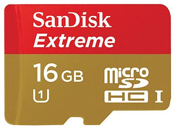 SanDisk 16GB Extreme Class-10 microSDHC Memory Card (pack 2 pcs)