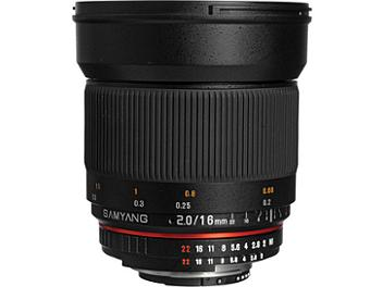 Samyang 16mm F2.0 ED AS UMC CS Lens- Canon Mount