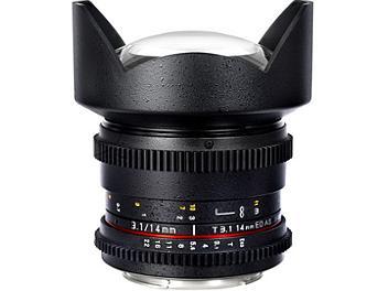 Samyang 14mm T3.1 VDSLR Fisheye Lens - Canon Mount