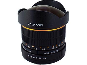 Samyang 8mm F3.5 Fisheye Lens - Four Thirds Mount