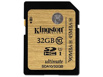 Kingston 32GB UHS-I Ulimate SDHC Memory Card 90MB/s