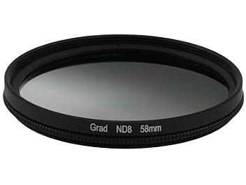 Globalmediapro Neutral Density ND8 Graduated Filter 58mm