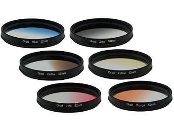 Globalmediapro Graduated Color Filter Kit 003 52mm, 6pcs