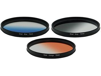 Globalmediapro Graduated Color Filter Kit 004 72mm, 3pcs