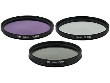 Globalmediapro Filter Kit 005 (UV, CPL, FLD) 55mm, 3 pcs