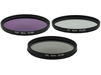 Globalmediapro Filter Kit 005 (UV, CPL, FLD) 62mm, 3 pcs