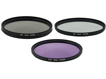 Globalmediapro Filter Kit 005 (UV, CPL, FLD) 72mm, 3 pcs