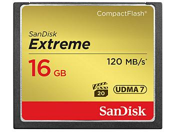 SanDisk 16GB Extreme CompactFlash Memory Card 120MB/s (pack 5 pcs)