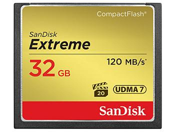 SanDisk 32GB Extreme CompactFlash Memory Card 120MB/s (pack 5 pcs)