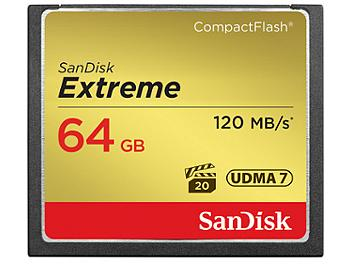 SanDisk 64GB Extreme CompactFlash Memory Card 120MB/s (pack 2 pcs)