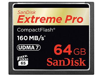 SanDisk 64GB Extreme Pro CompactFlash Memory Card 160MB/s (pack 2 pcs)