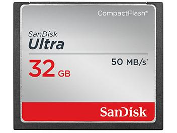 SanDisk 32GB Ultra CompactFlash Memory Card 50MB/s (pack 2 pcs)