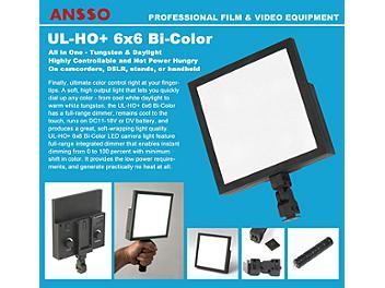 Ansso UL-HO+ 6x6 Bi-Color U Camera Light with BP-U Mount