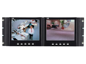 Globalmediapro 2 x T-LV-80R01 8-inch LCD Monitors + T-RK-80 Rack Adapter