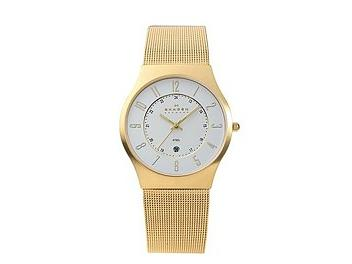 Skagen 233XLGG Gold Tone Mesh Watch