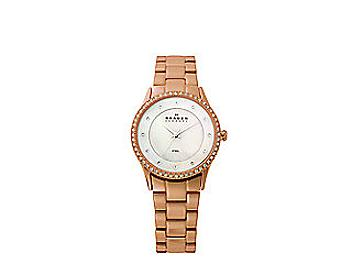 Skagen 347SRXR Rose Gold Tone Steel Link Watch