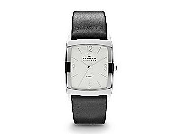 Skagen 691LSLS Black Leather & Steel Watch