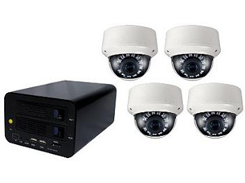 Globalmediapro T-NS-0400 NVR + 4 x T-TD20SV IR Camera Kit PAL