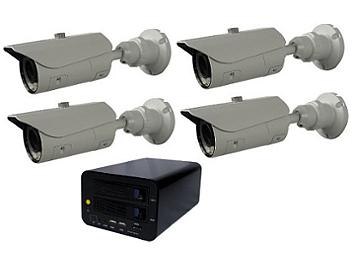 Globalmediapro T-NS-0400 NVR + 4 x T-TB20S1 IR Camera Kit PAL