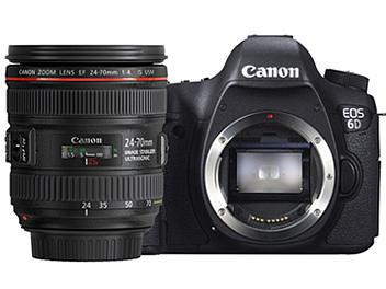 Canon EOS-6D DSLR Camera Kit with Canon EF 24-70mm F4L IS USM Lens