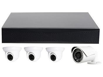 Globalmediapro T-TN4004 NVR + 3 x T-TD20M1 + 1 x T-TB20M1 IR Camera Kit NTSC