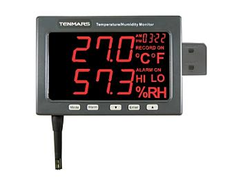 Tenmars TM-185D Large LED Screen Temperature/Humidity Monitor with Datalogger