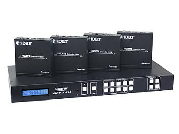 Globalmediapro CV-HDM-944H100 4x4 HDMI Matrix Switcher over CAT5e/6/7