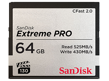 SanDisk 64GB Extreme Pro CFast 2.0 Memory Card 525MB/s