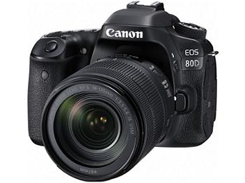 Canon EOS-80D Digital SLR Camera Kit with Canon EF-S 18-135mm Lens