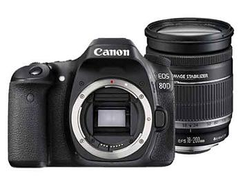 Canon EOS-80D Digital SLR Camera Kit with Canon EF-S 18-200mm Lens